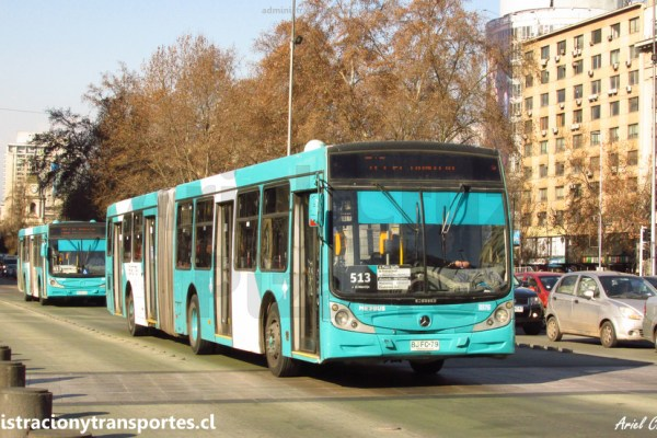 Transantiago | Caio Mondego HA – Mercedes Benz O500UA