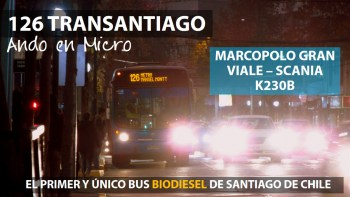 Ando en Micro 126 Transantiago | Marcopolo Gran Viale - Scania K230B / DBFZ92