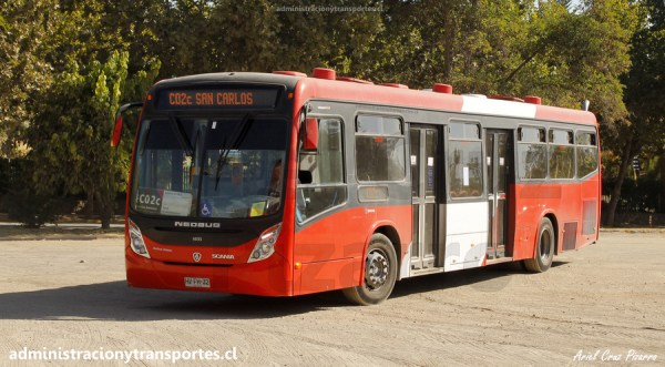 Micros de Santiago: Neobus Mega Plus – Scania K280UB (Euro 6)