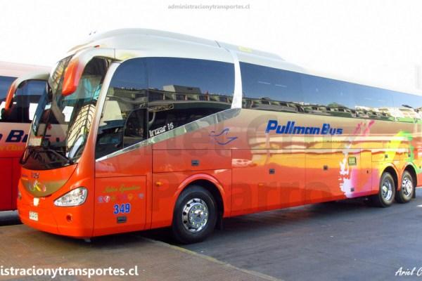 Viaje Pullman Bus Costa Central 349 (Irizar I6 3.90), Santiago a Valparaíso