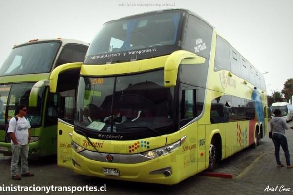 Viaje en Buses Romani 1026 desde La Serena a Santiago