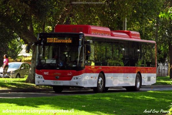 Micros de Santiago: Buses eléctricos Yutong E12 LF