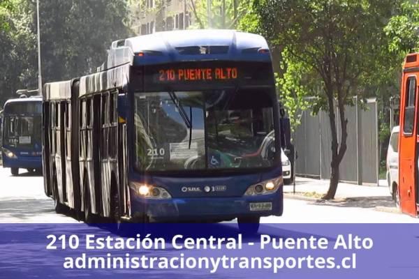 Recorrido 210 Santiago