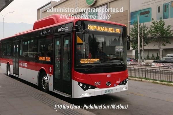 Recorrido 510 Santiago
