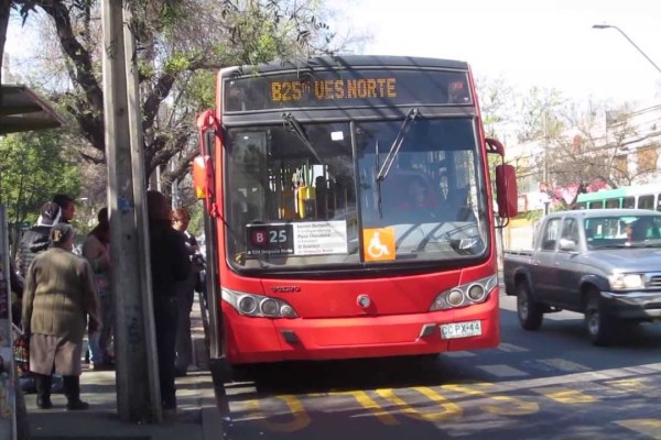 Recorrido B25 Santiago