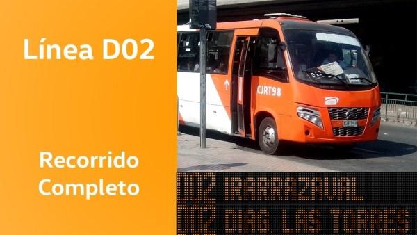 Recorrido D02 Santiago