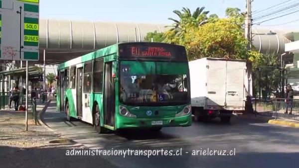 Recorrido E11 Santiago
