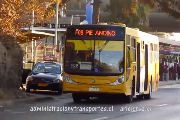 Recorrido F09 Santiago