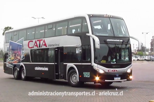 [Video] Bus Cata Internacional en ruta Mendoza – La Serena