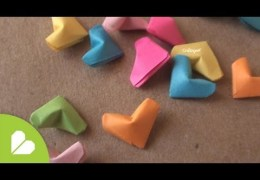 Making little paper hearts