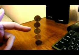 Five-Coin Stack Trick