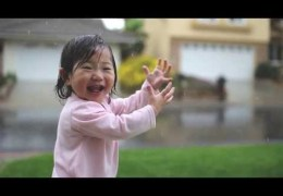 Sweet Baby Experiences Rain for the Very First Time