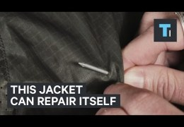You can poke a hole in this jacket and it'll repair itself