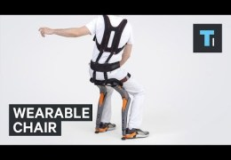 You can take a seat anywhere with this wearable chair