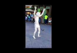 filmed on the street…incredible talent