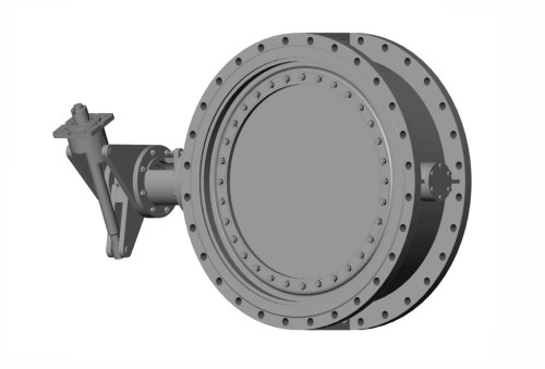 Затвор дисковий з гумовим ущільненням фланцевий 32с310р, 32нж310р Ду 150 Ру 10