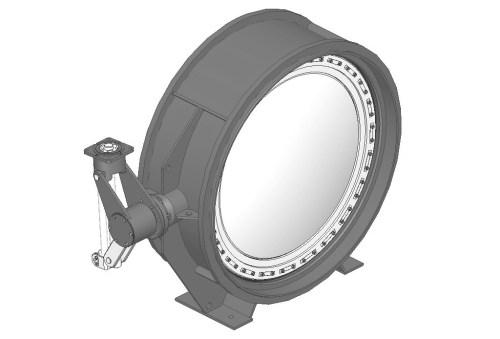 Затвор дисковий з гумовим ущільненням під приварення 32с530р, 32нж530р Ду 900 Ру 25