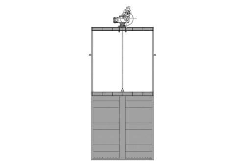 Затвор щитовий для відкритих каналів з електроприводом 300x300