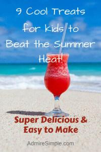 Healthy snacks for kids in the summer. Easy to make and super delicious.
