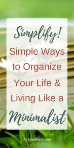 Start simplifying your life and you'll get back your time and energy to focus on what truly matters to you. Here are some great tips to simplify and organize your life.