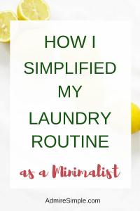 My super simple laundry routines