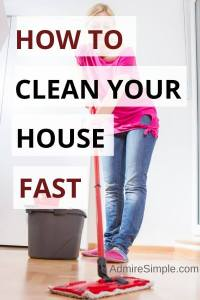 How to clean your house fast, clean house fast and efficiently