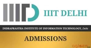 IIIT Delhi B.Tech Admission 2017