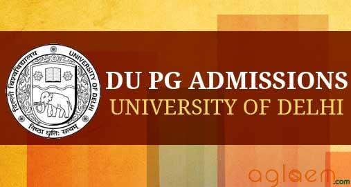 DU PG Admission 2014