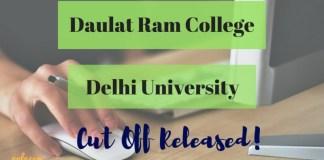 Daulat Ram College cut off