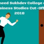 Shaheed Sukhdev College of Business Studies Add heading Cut-Off 2018