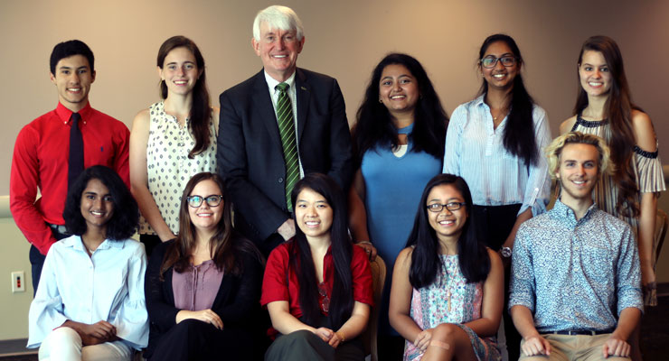 New USF National Merit Scholars with USF Provost