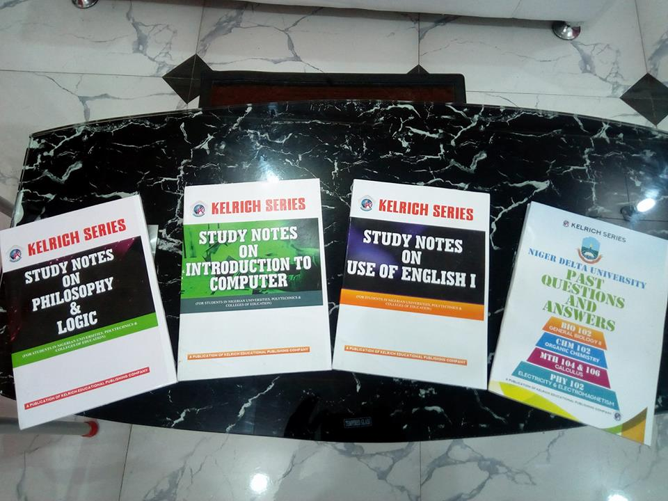 Past questions (N1,8000) and study notes (N1,000-1,400)