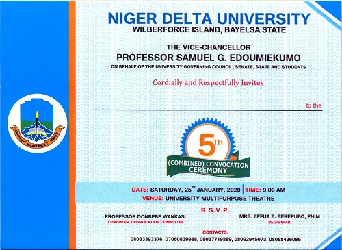 15,811 Graduates to Participate in NDU 5th (Combined) Convocation Ceremony – VC