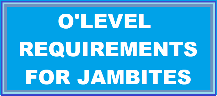 Jambites: O'level Admission Requirements For All Courses: PDF