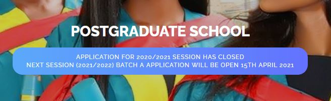 NDU Post Graduate Application for 2021/2022 to Commence 15th April, 2021