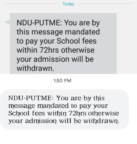 Admissions Retrieval: NDU Eyes Second Batch of Withdrawal