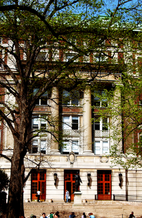 Hamilton Hall, an original McKim, Mead, and White building, is home to Columbia College, one of the most prestigious undergraduate institutions in the world. The College, which prizes its renowned Core Curriculum, offers programs of study leading to the B.A. in 61 subjects and has 5 dual degree programs as well as a joint degree program with the Juilliard School of Music. The College Dean's office and the Undergraduate Admissions Office for Columbia College and the Fu Foundation School of Engineering and Applied Science are located here. In addition, the building houses the department of Slavic languages.