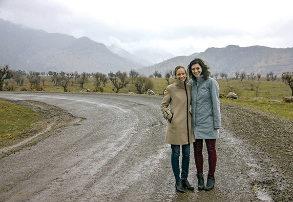 Alice Bosley (left) and Patricia Letayf in Kurdistan.