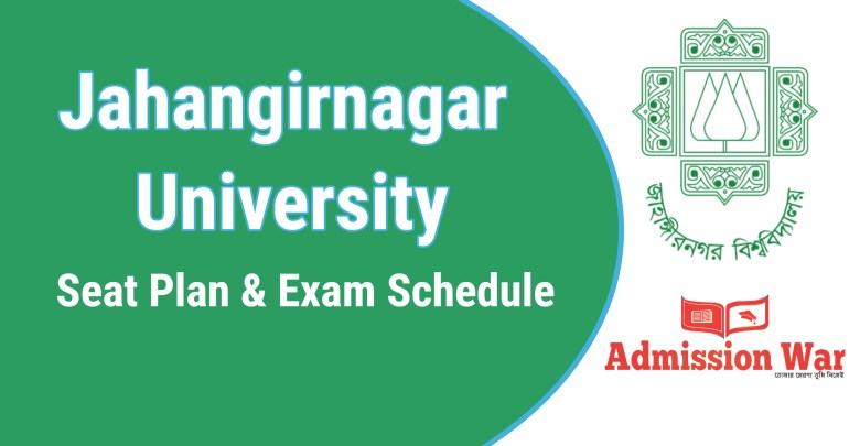 jahangirnagar university seat plan and exam schedule