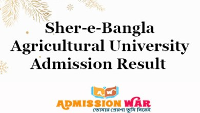 Photo of Sher-e-Bangla Agricultural University Admission Result 2018-19