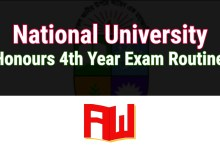 Photo of NU Honours Final year Routine 2020 (Postponed) – Download new PDF  | nu.ac.bd
