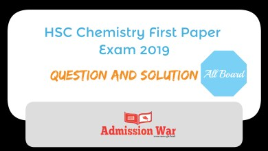 Photo of HSC Chemistry 1st paper Exam 2019 Question and Solution