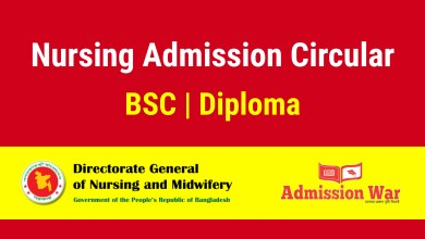 Photo of Nursing Admission Circular 2019-20 | dgnm.gov.bd