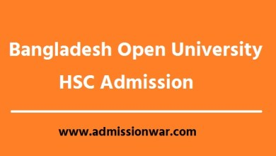 Photo of BOU HSC Admission Circular 2020-21 । Apply Now