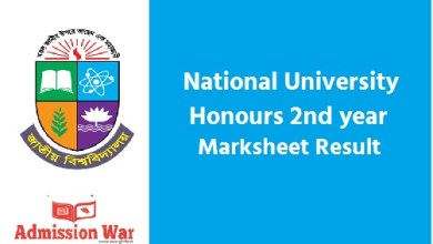 Photo of NU Honours 2nd year Result 2020 ( With Marksheet) | nu.ac.bd