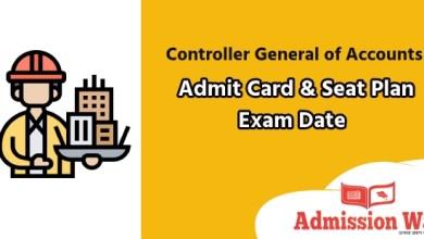 Photo of CGA Admit Card 2020 , Seat Plan & Exam Date | cga.teletalk.com.bd