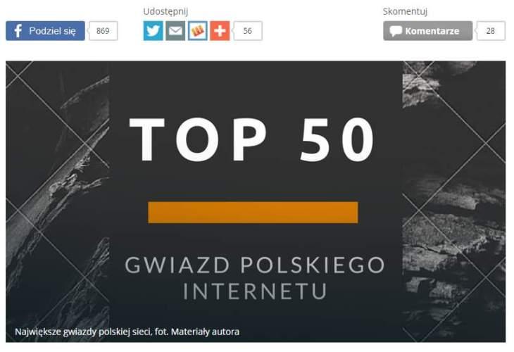 Reklama promująca ranking w wykonaniu onet.pl