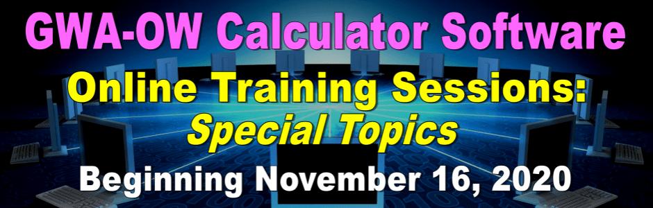 GWA Online Training Sessions