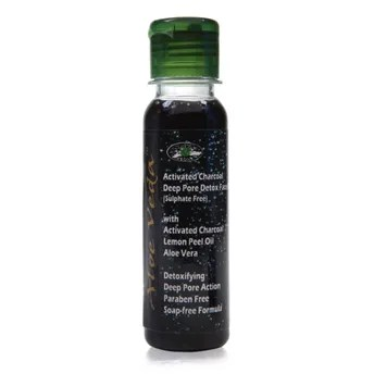 Image result for Aloe Veda Activated Charcoal Deep Pore Detox Face Wash