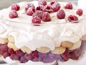 trifle cu zmeura